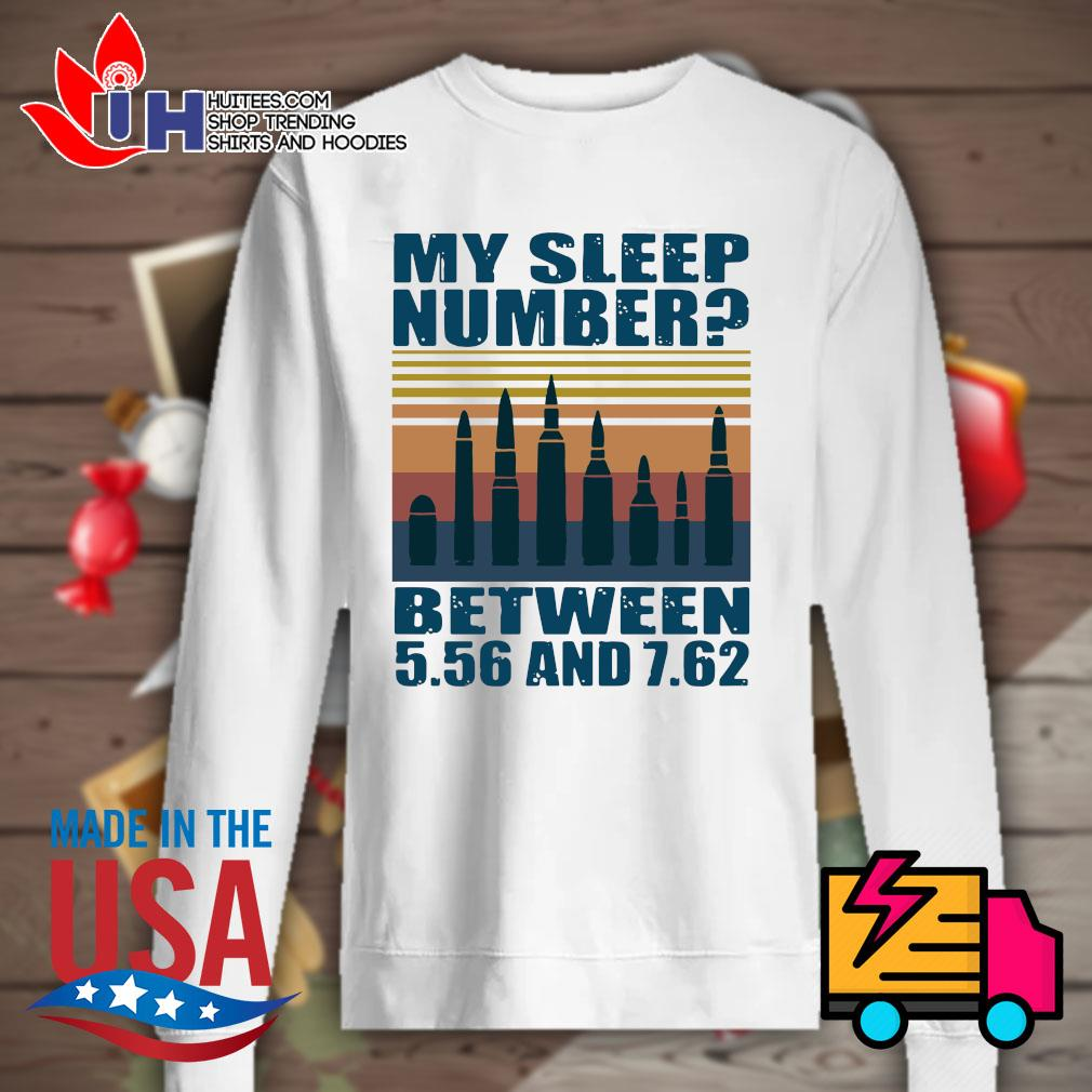 My sleep number between 5.56 and 7.62 Vintage s Sweater
