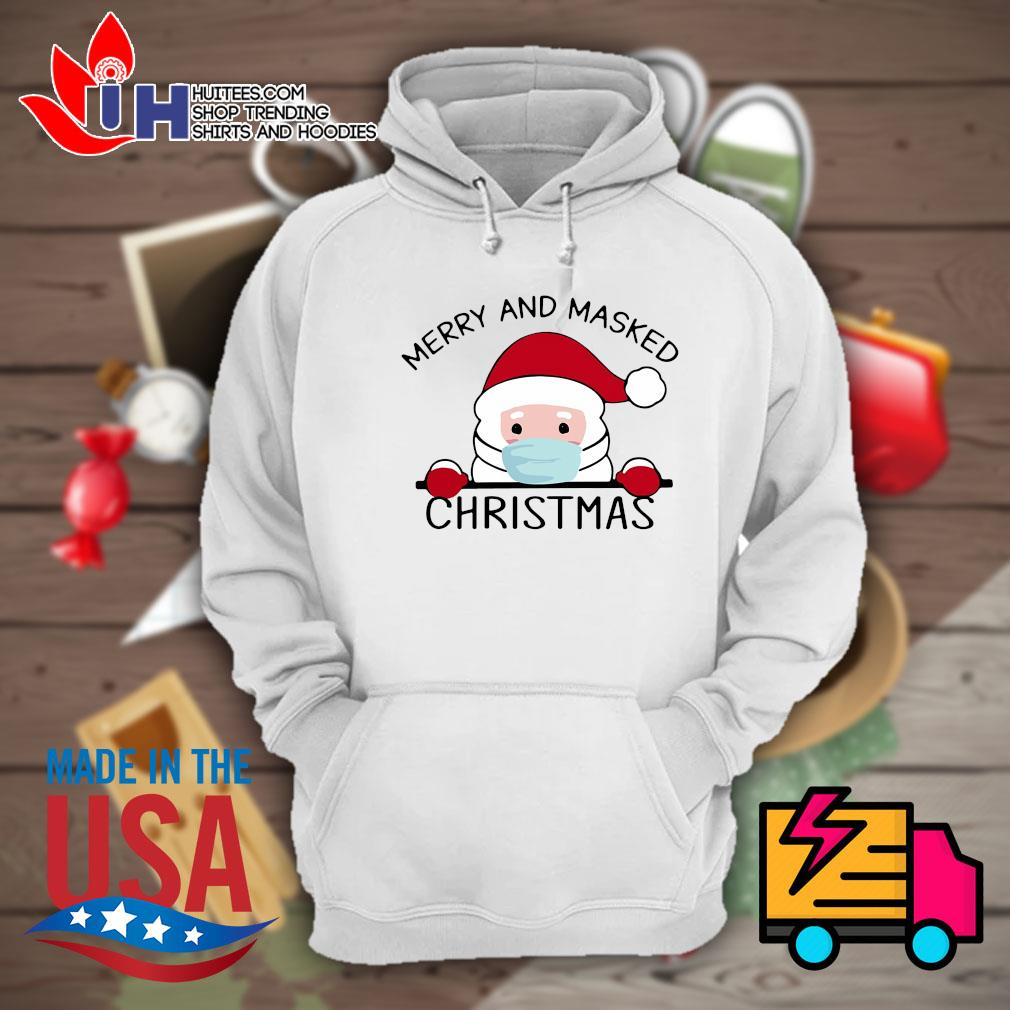 Santa face mask Merry and masked Christmas s Hoodie