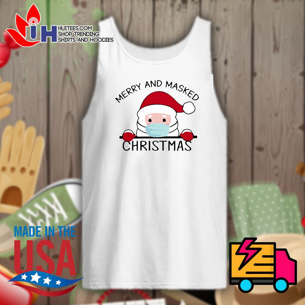 Santa face mask Merry and masked Christmas s Tank-top