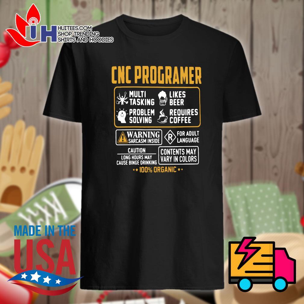 CNC Programer 100% organic shirt