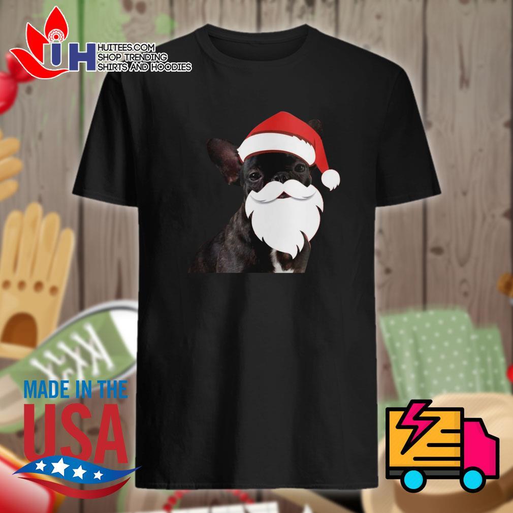 Santa French Bulldog Christmas shirt