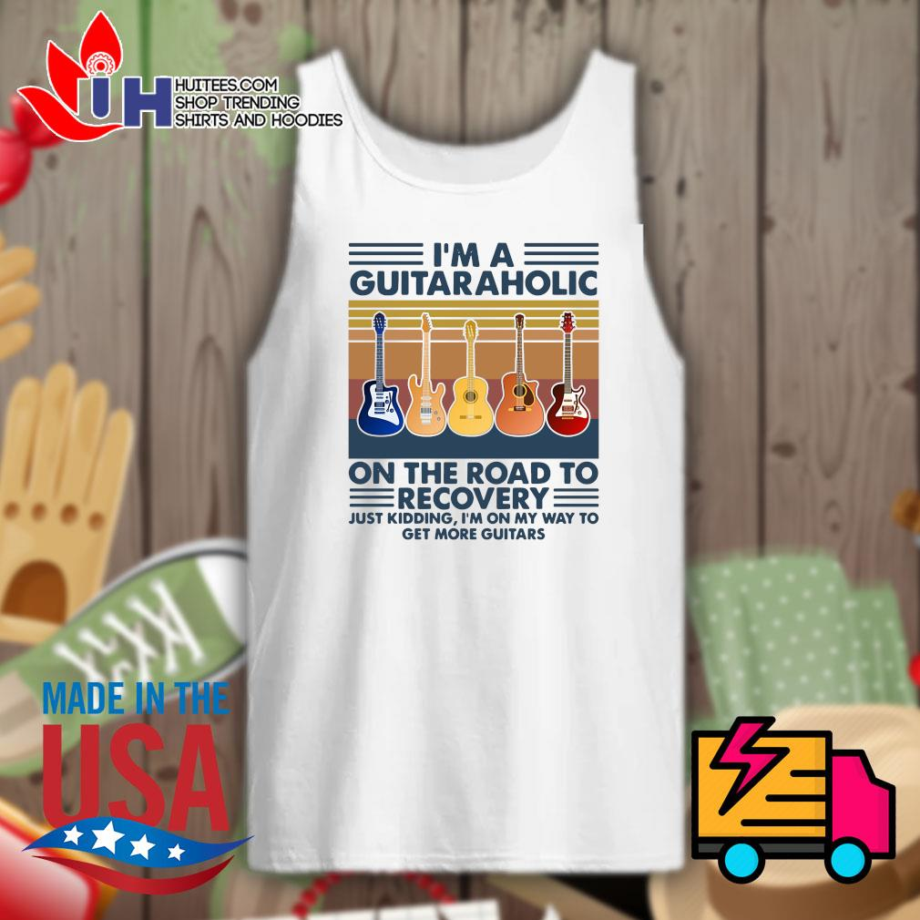 I'm a Guitaraholic on the road to recovery Vintage s Tank-top