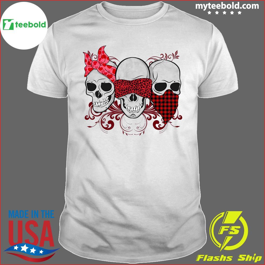 Three Skulls Happy Valentine 2021 Plaid Shirt