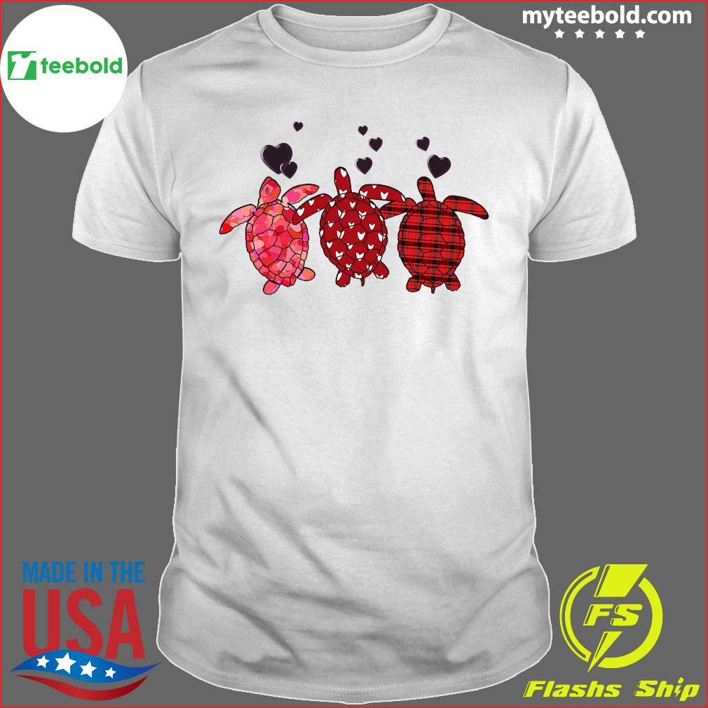 Three Turtle Happy Valentine 2021 Shirt
