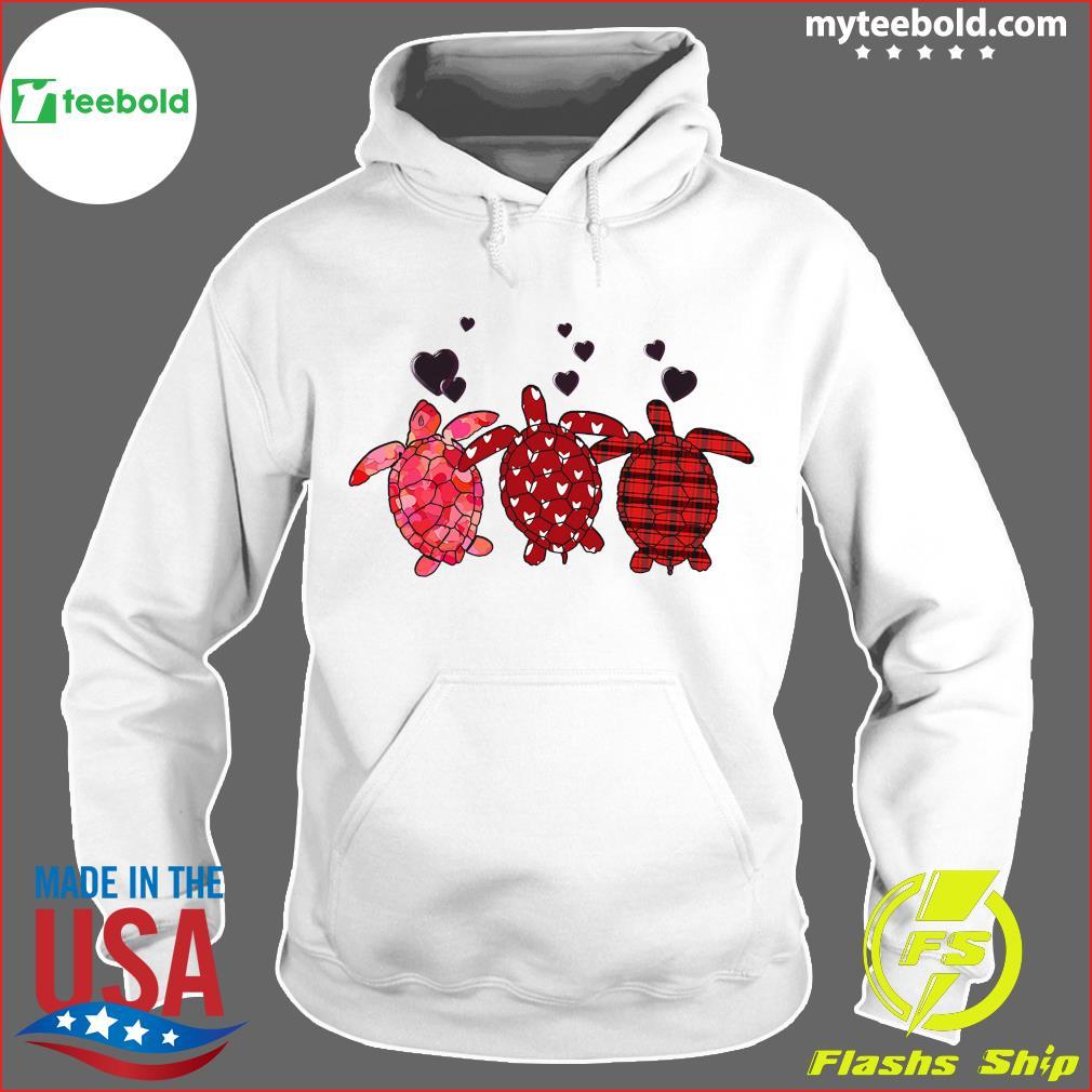 Three Turtle Happy Valentine 2021 Shirt Hoodie