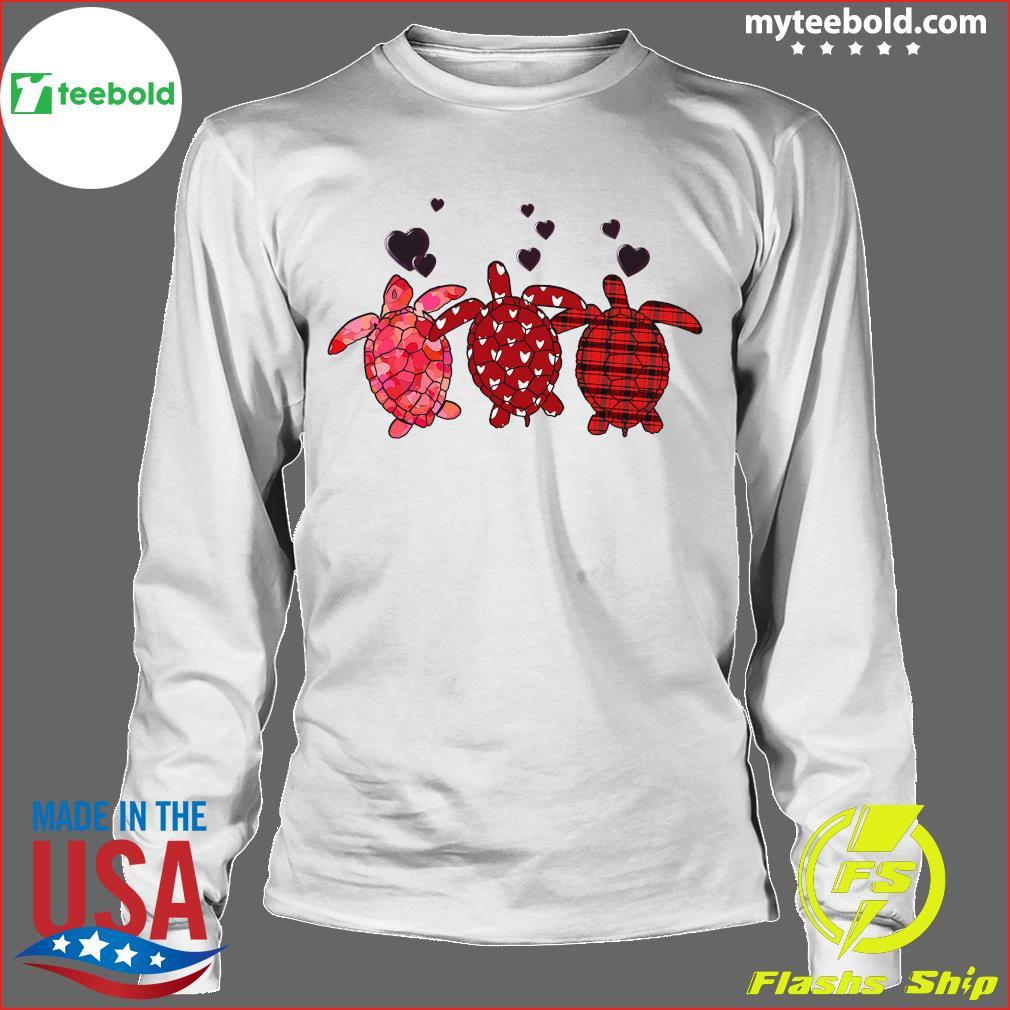 Three Turtle Happy Valentine 2021 Shirt Longsleeve