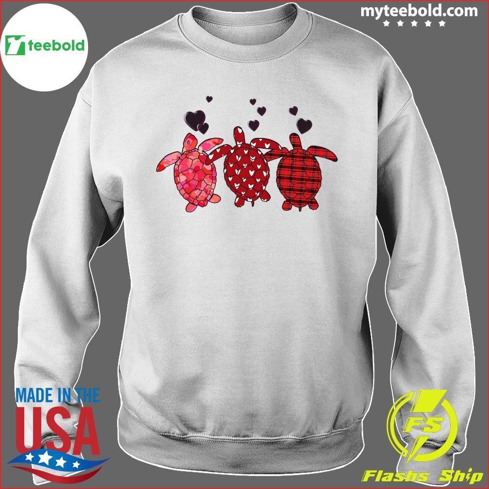 Three Turtle Happy Valentine 2021 Shirt Sweater