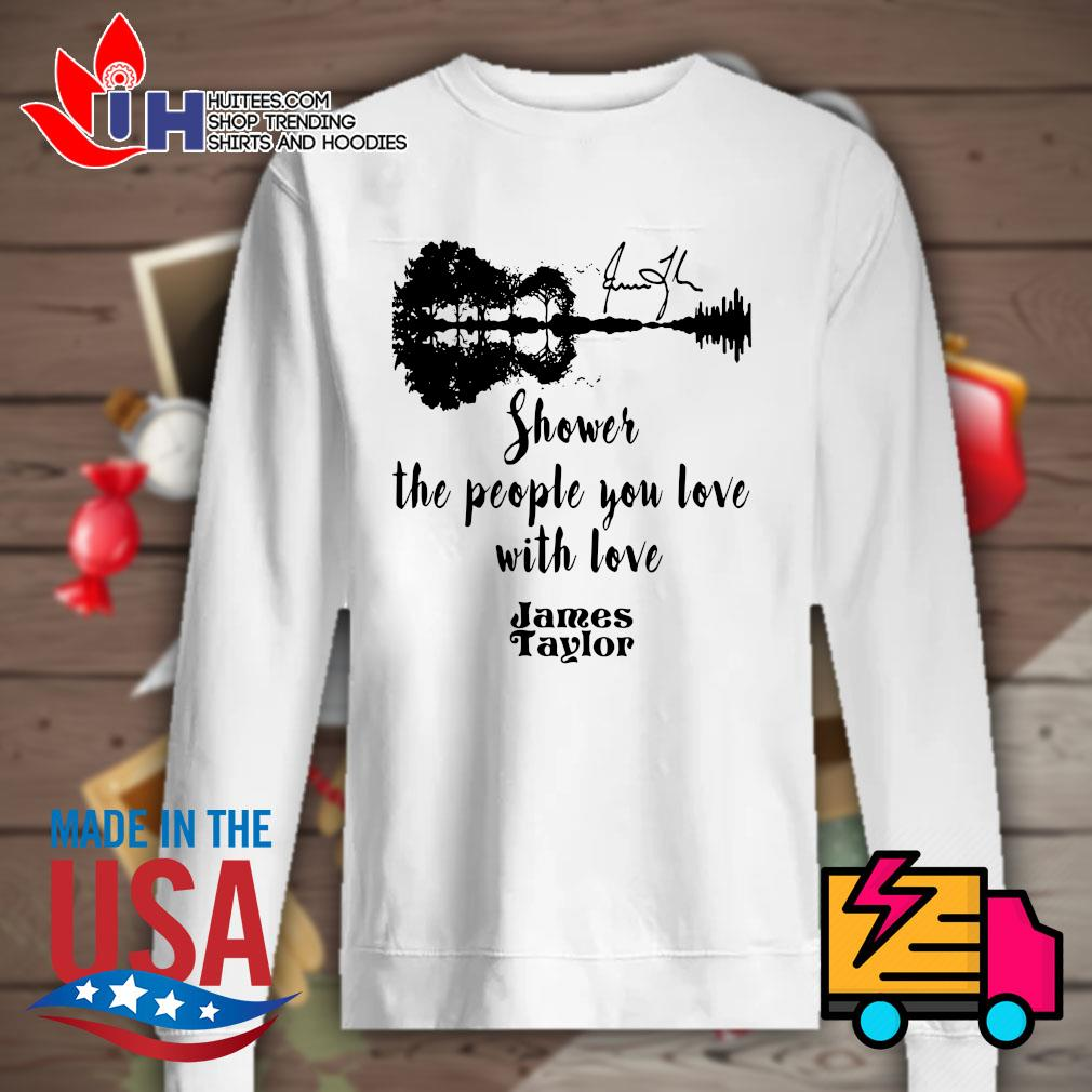 Guitar water reflection shower the people you love with love James Taylor s Sweater