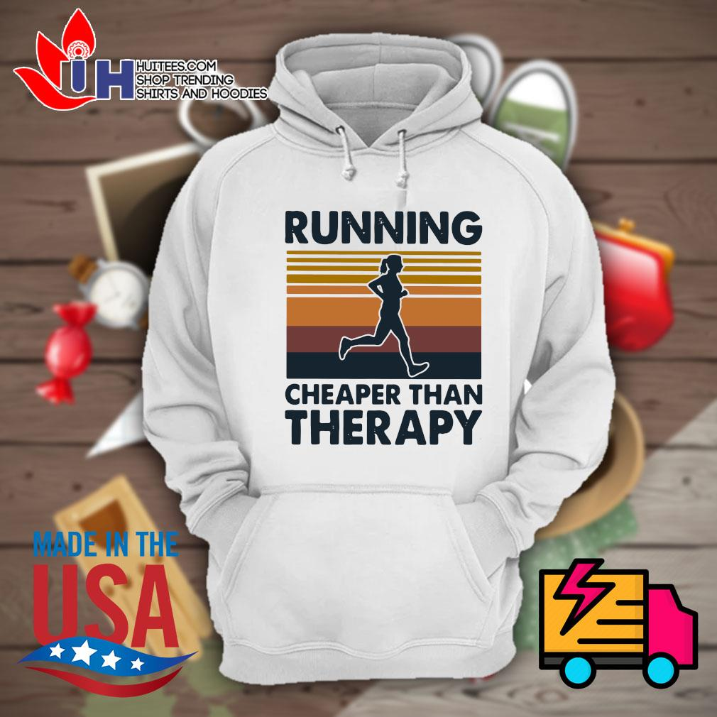 Running cheaper than therapy Vintage s Hoodie
