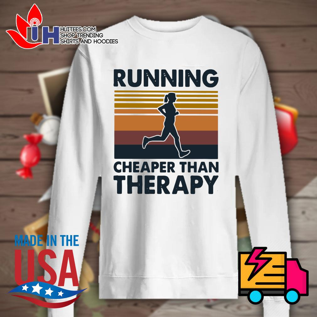 Running cheaper than therapy Vintage s Sweater