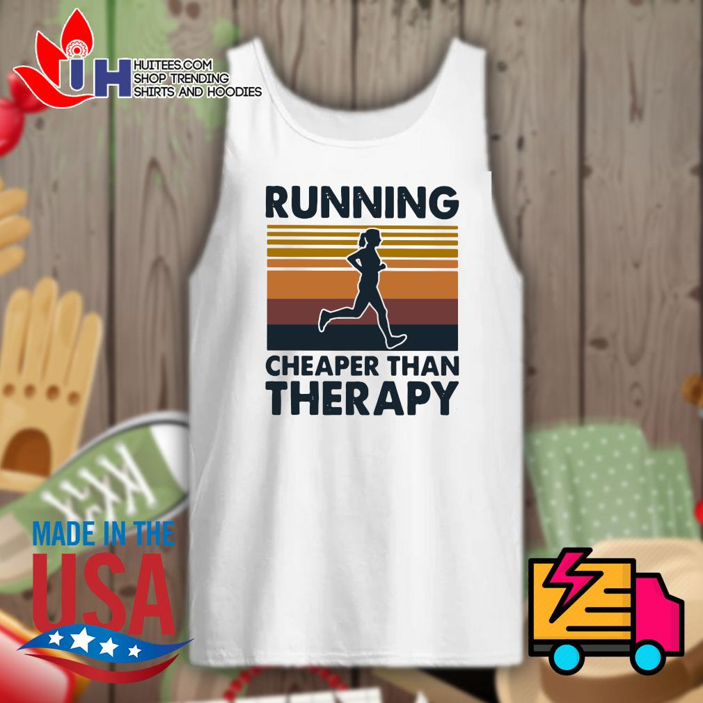 Running cheaper than therapy Vintage s Tank-top