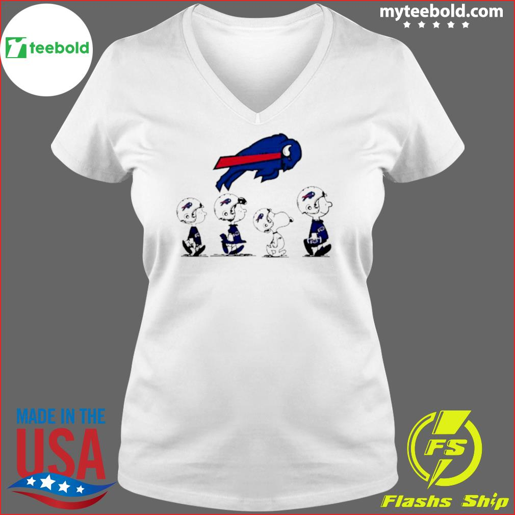 The Peanuts Snoopy And Friends Buffalo Bills 2021 s Ladies V-neck
