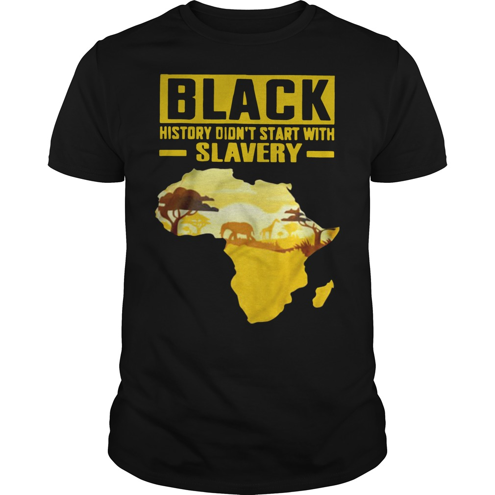 Black history didn't start with slavery Guys t-shirt