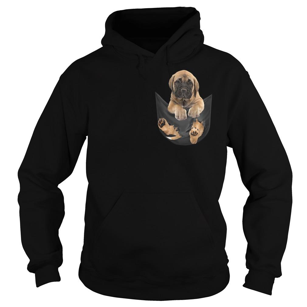 Bullmastiff in fake pocket Hoodie