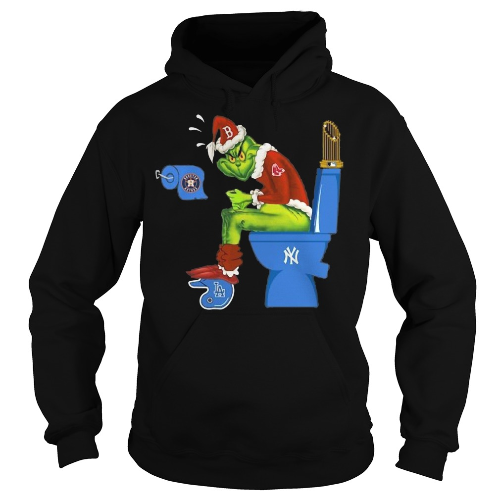 The Grinch Boston Red Sox, Houston Astros, Los Angeles Dodgers and New York Yankees Hoodie