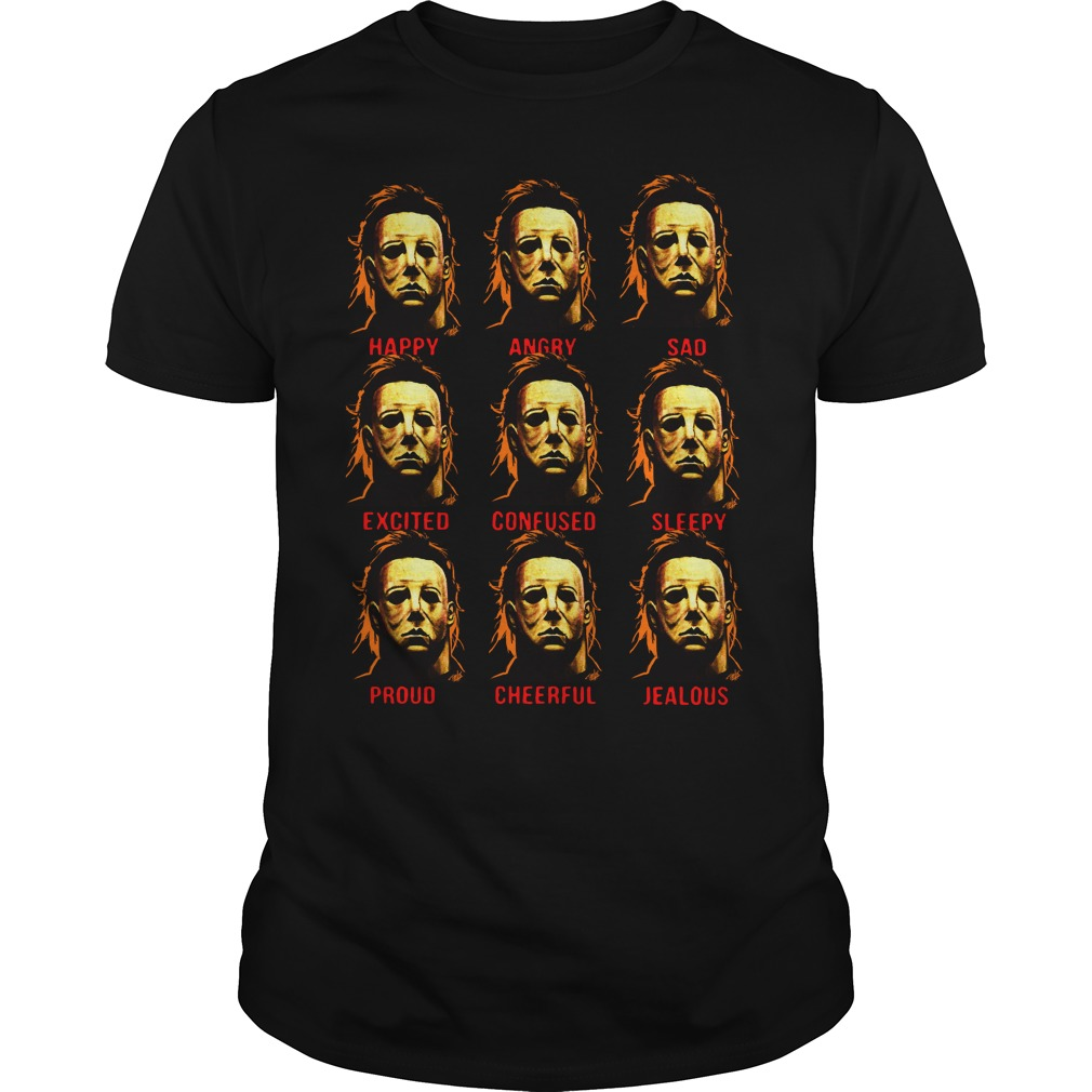 The many faces of Michael Myers Guys t-shirt