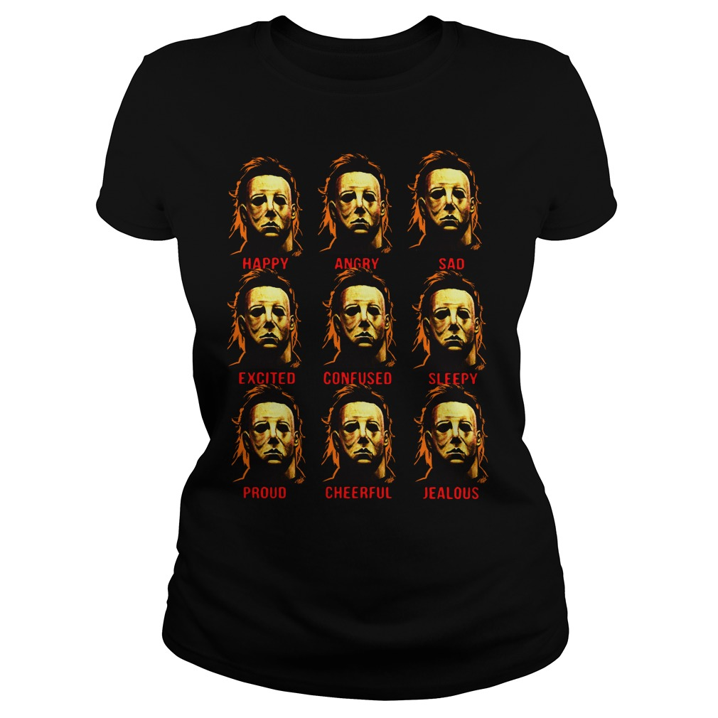 The many faces of Michael Myers Ladies t-shirt