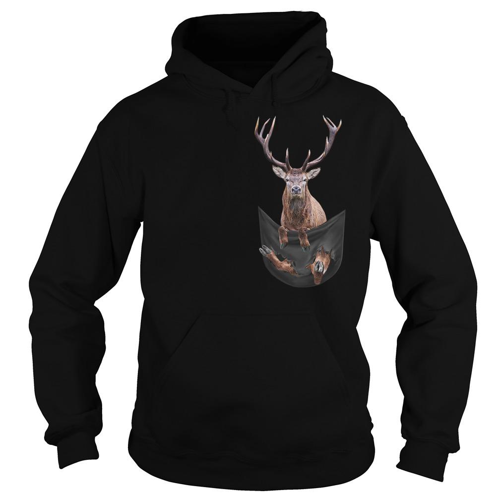 Reindeer in pocket Hoodie