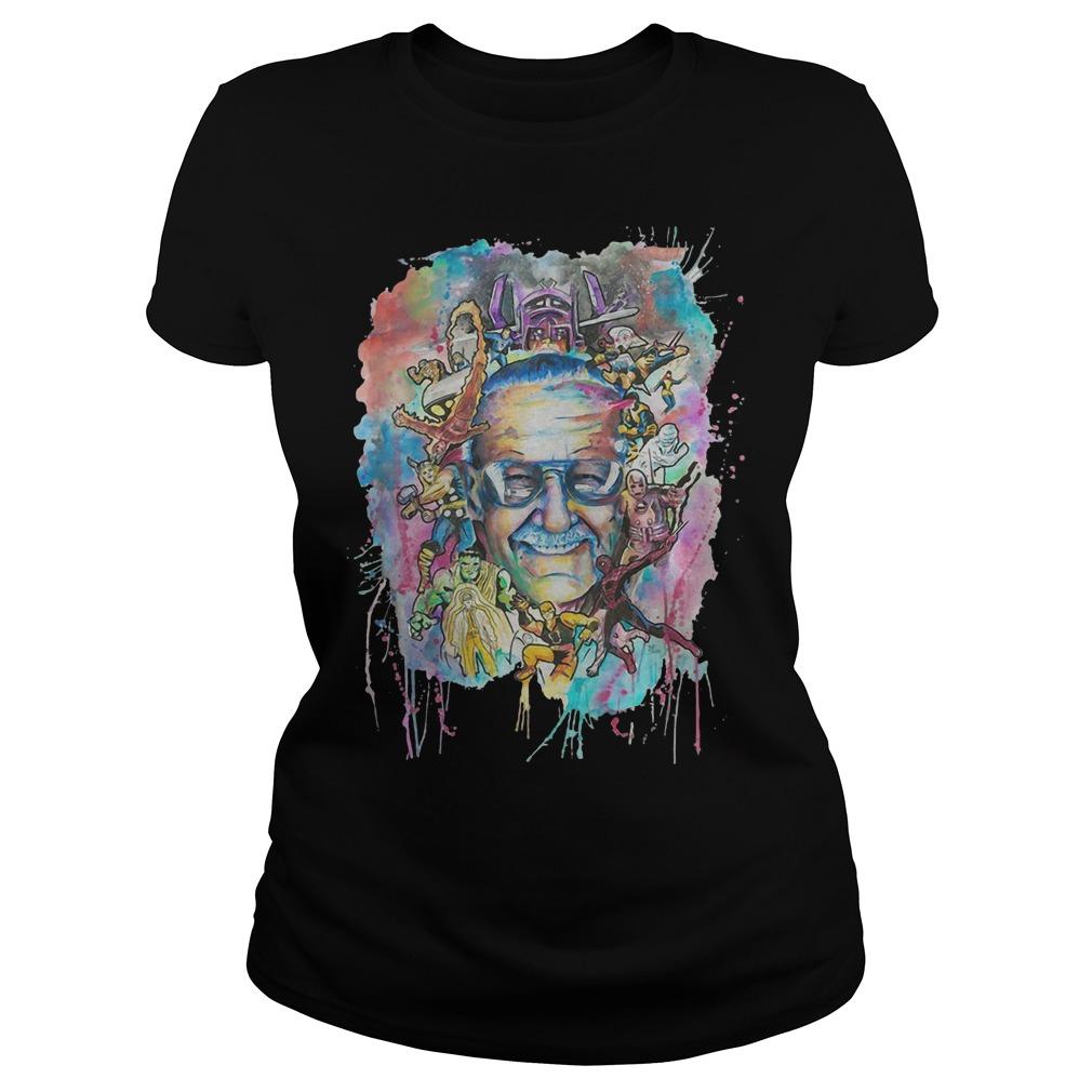 Stan Lee and Superheroes Ladies t-shirt