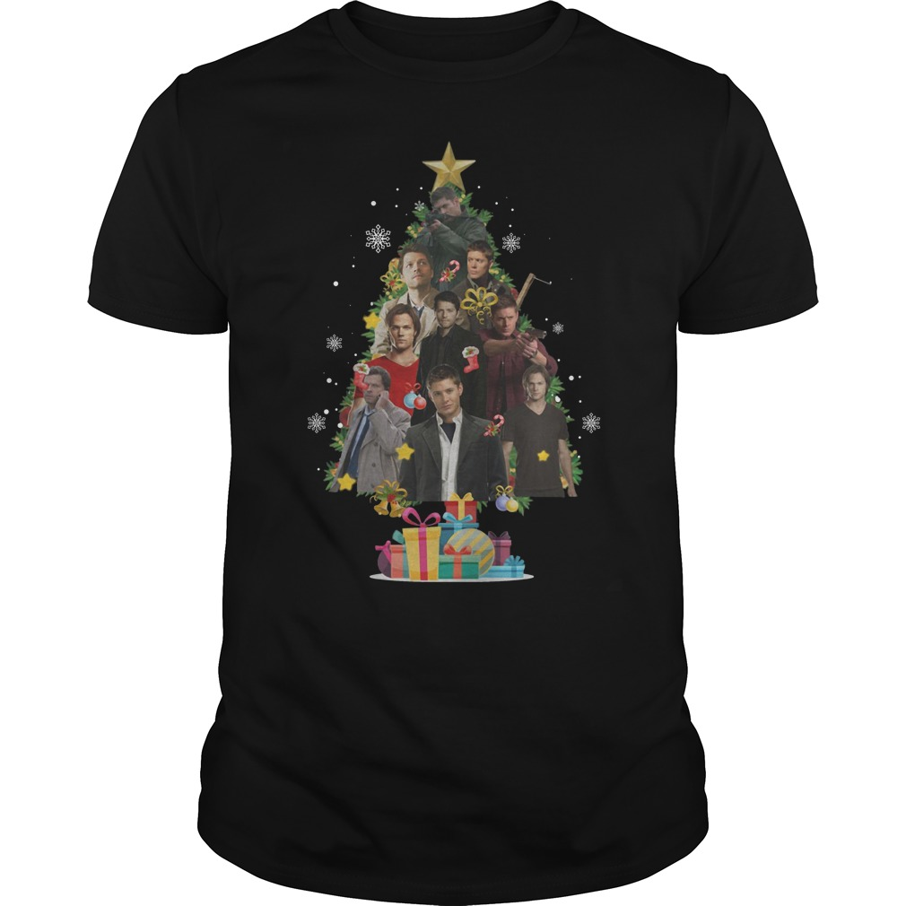Supernatural Christmas Tree Guys t-shirt