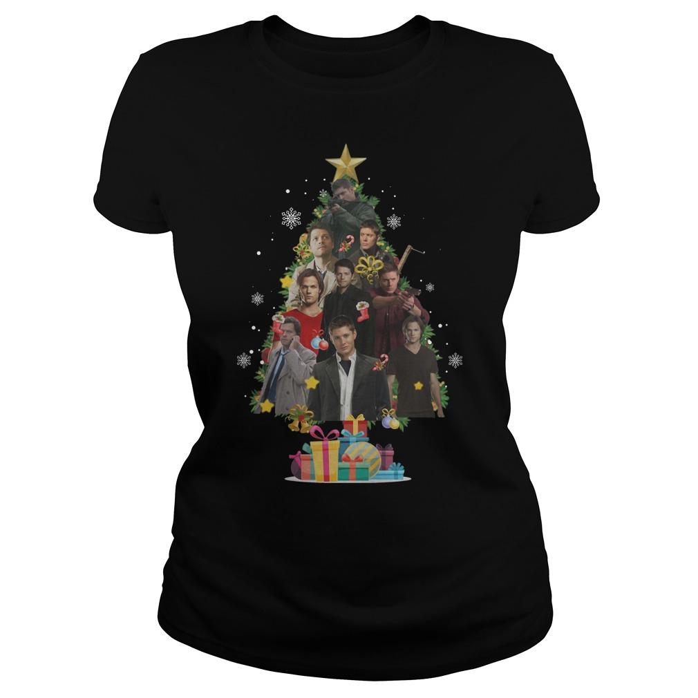 Supernatural Christmas Tree Ladies t-shirt