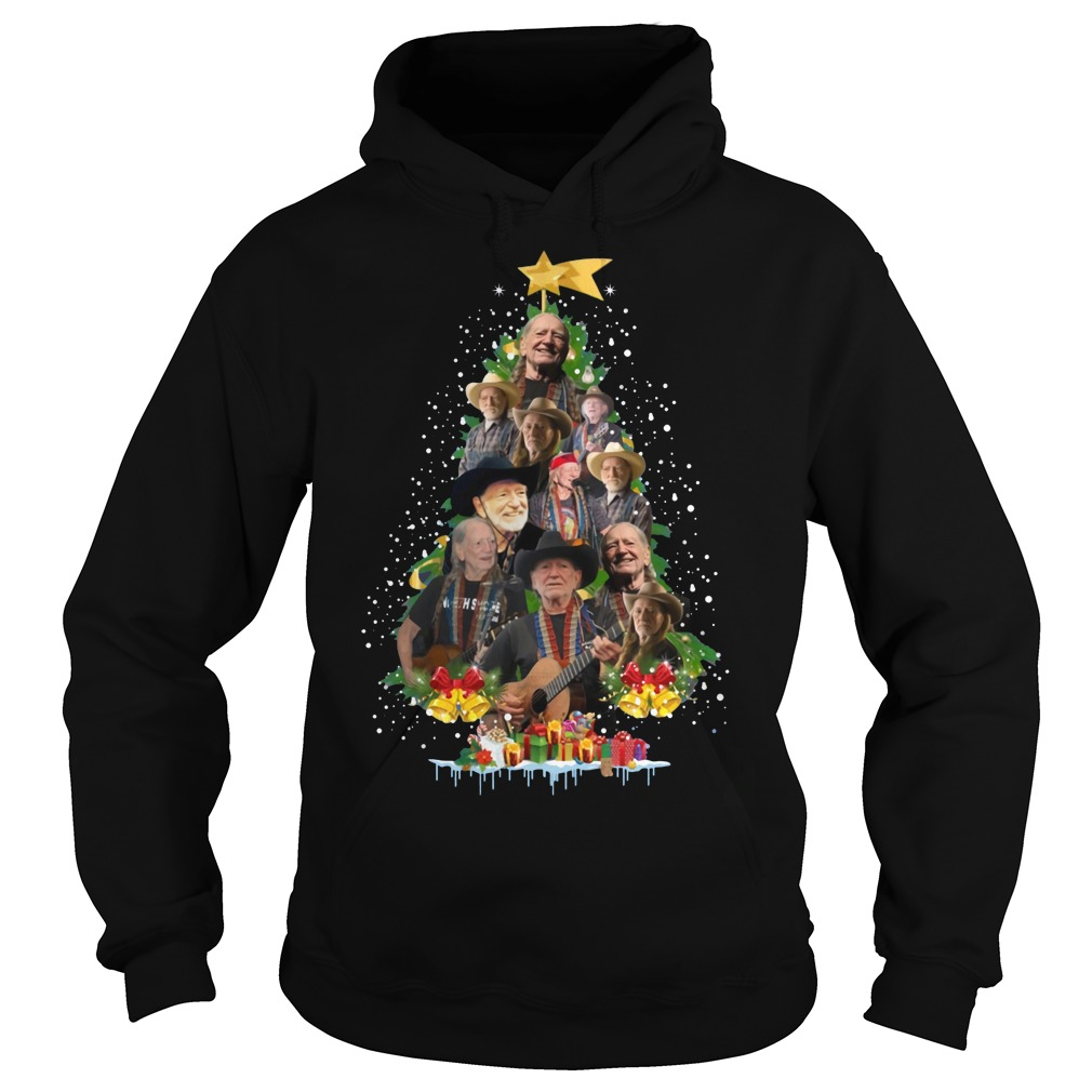 Willie Nelson Christmas tree Hoodie