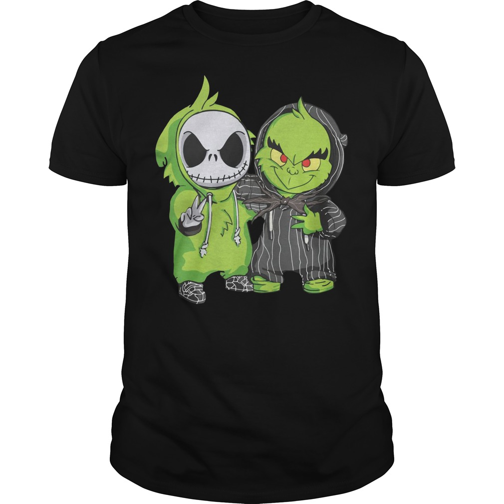 Baby Grinch and Jack Skellington Guys t-shirt