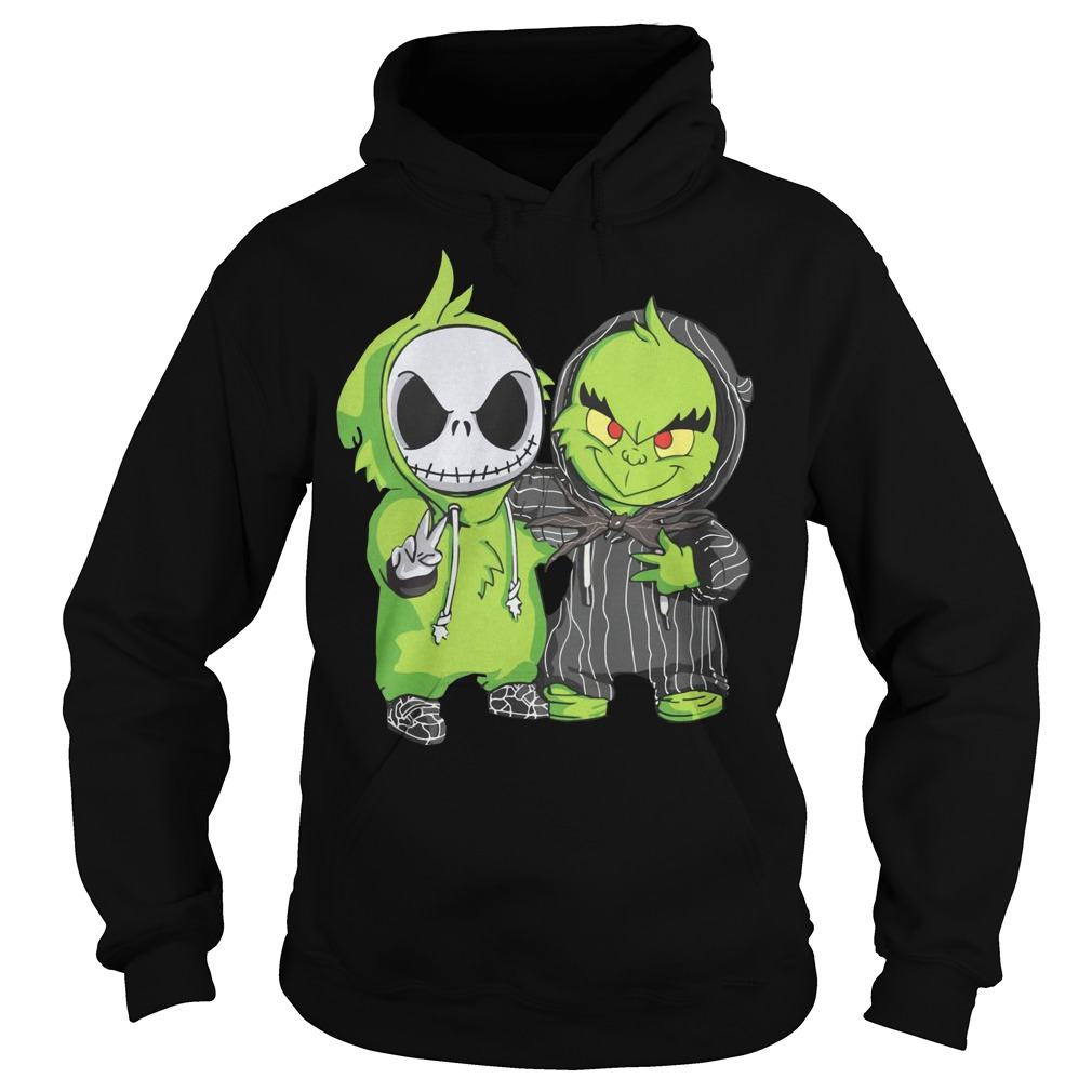 Baby Grinch and Jack Skellington Hoodie