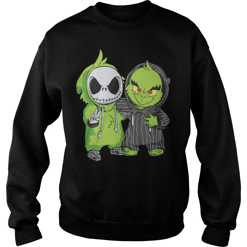 Baby Grinch and Jack Skellington Sweater