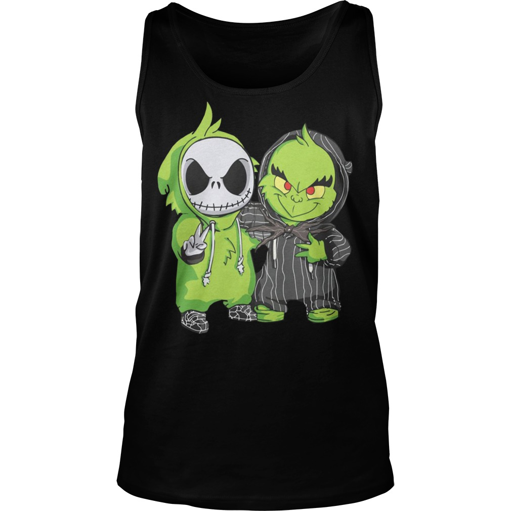 Baby Grinch and Jack Skellington Tank top
