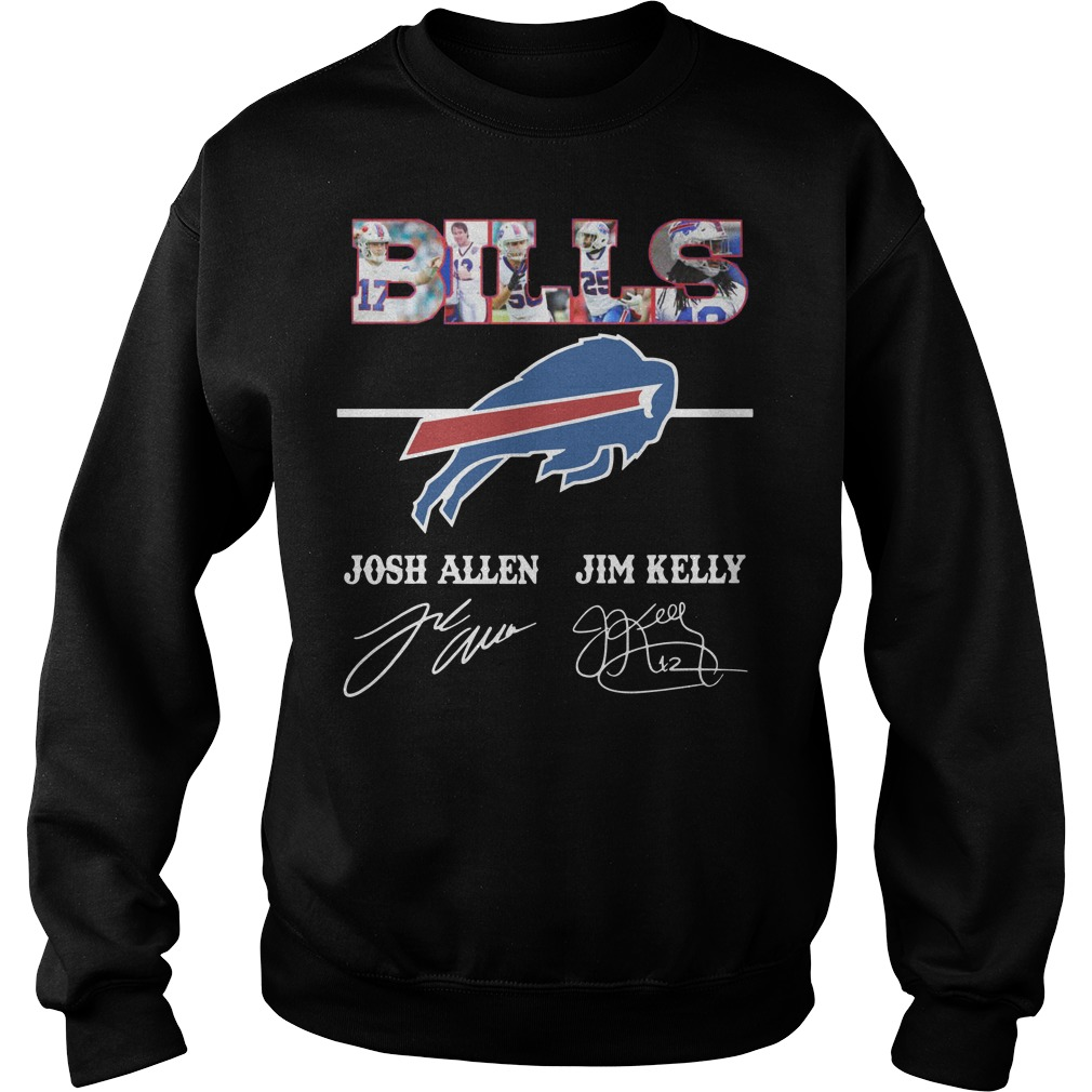 Bills Josh Allen Jim Kelly character signature Sweater