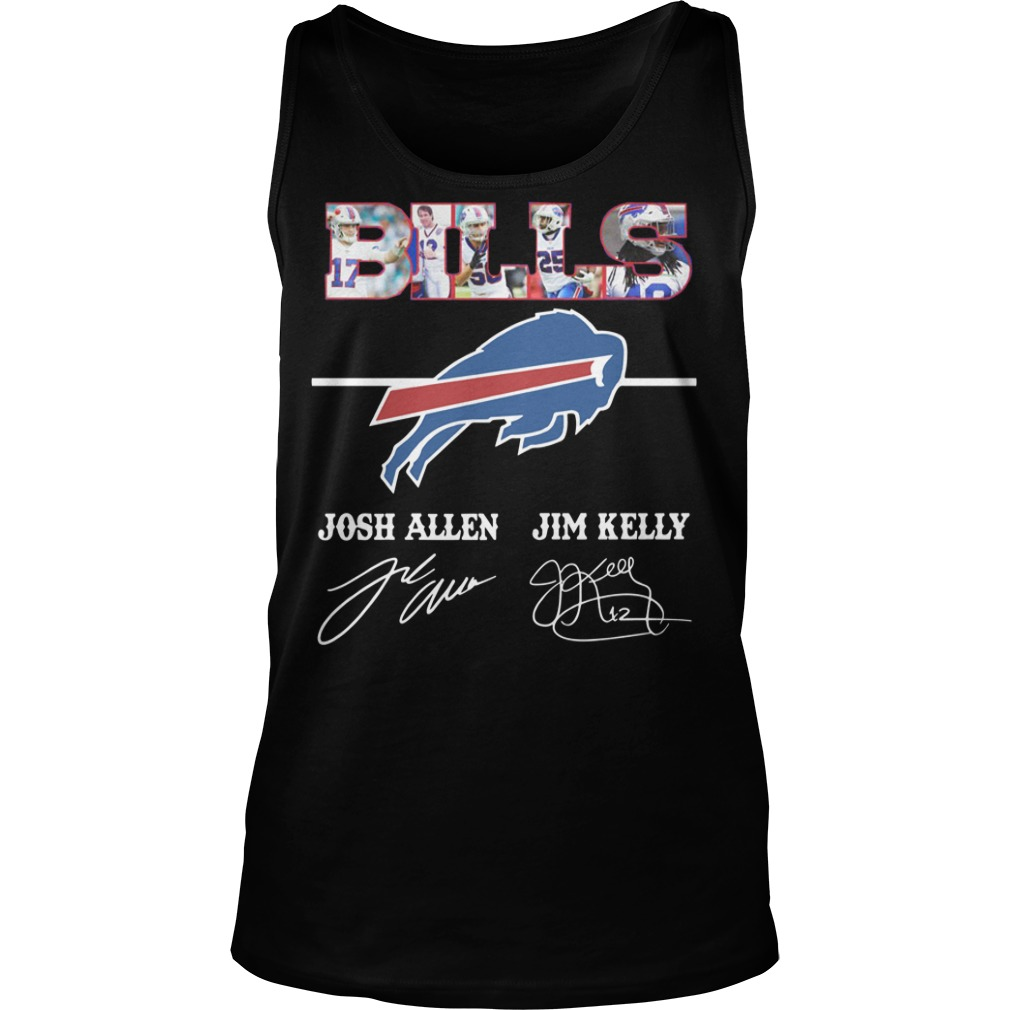 Bills Josh Allen Jim Kelly character signature Tank top