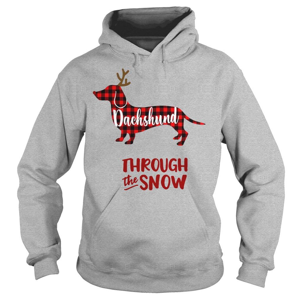 Dachshund Reindeer through the snow Hoodie
