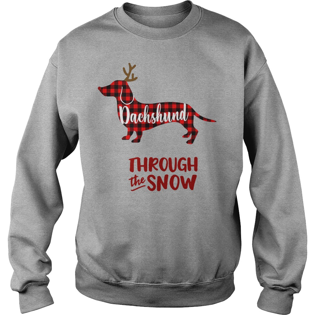 Dachshund Reindeer through the snow Sweater
