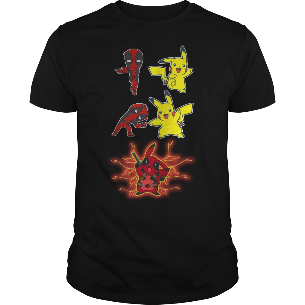 Deadpool And Pikachu Fusion Dance Guys t-shirt