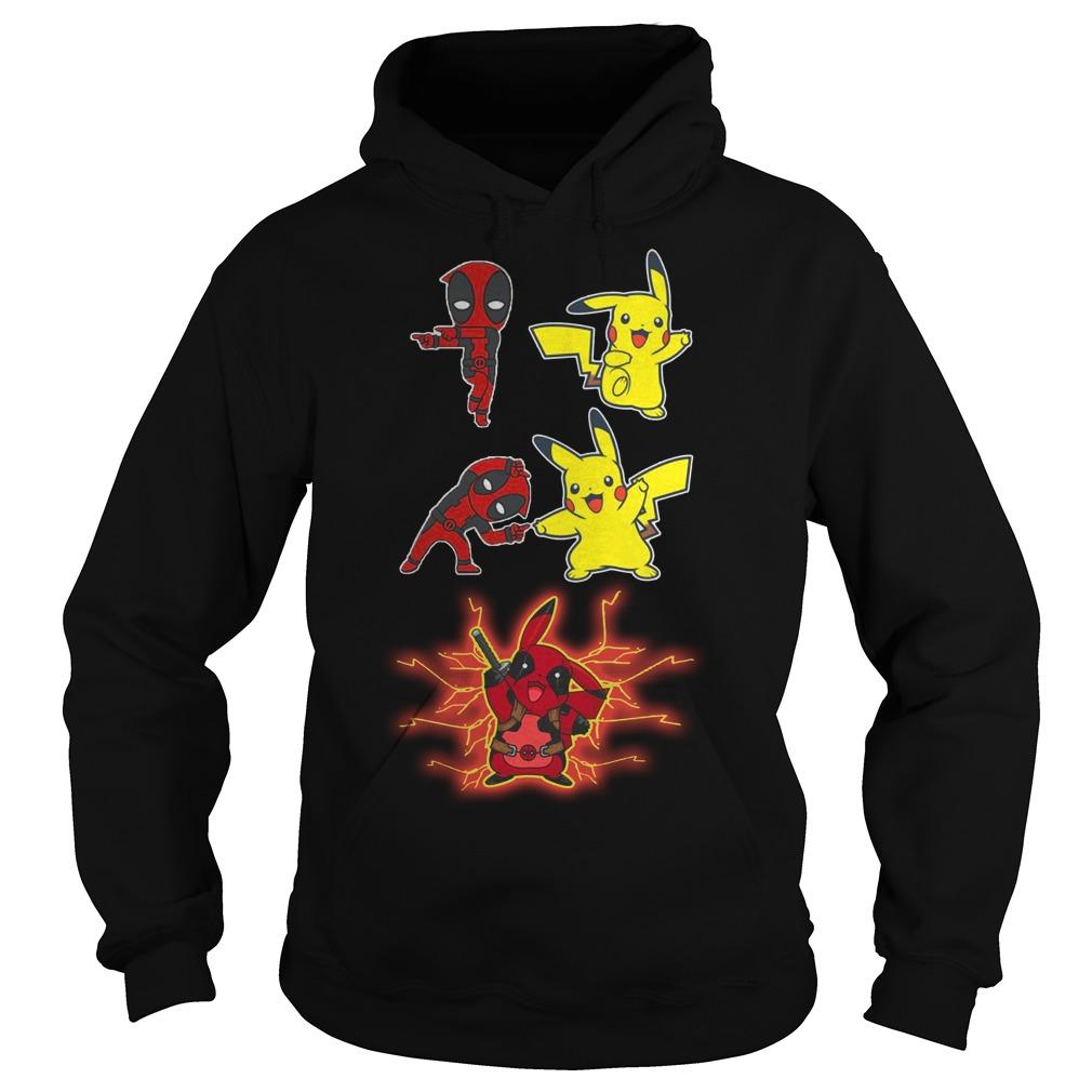 Deadpool And Pikachu Fusion Dance Hoodie