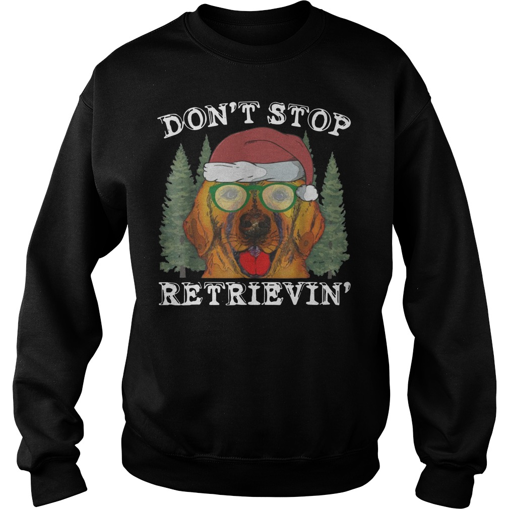 Don't Stop Golden Retriever Christmas Sweater