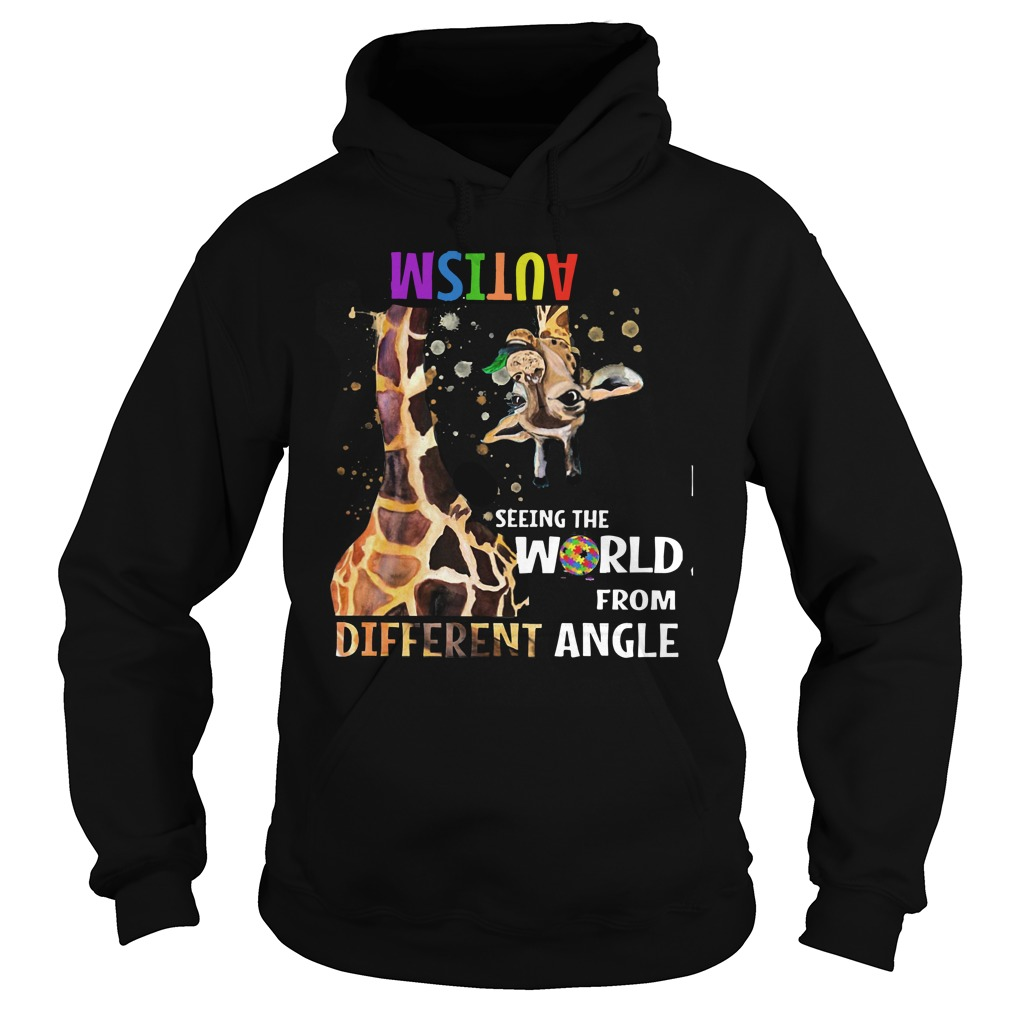 Giraffe autism seeing the world from different angle Hoodie