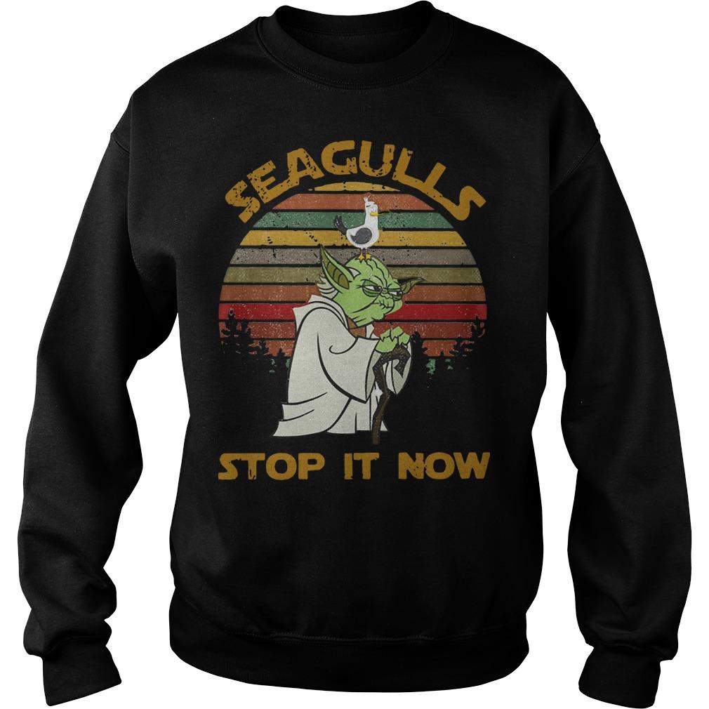 Yoda Seagulls Stop It Now Sweater