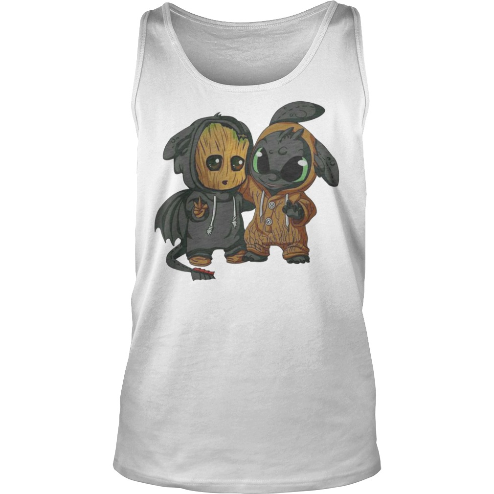 Baby Groot and Night Fury Tank top