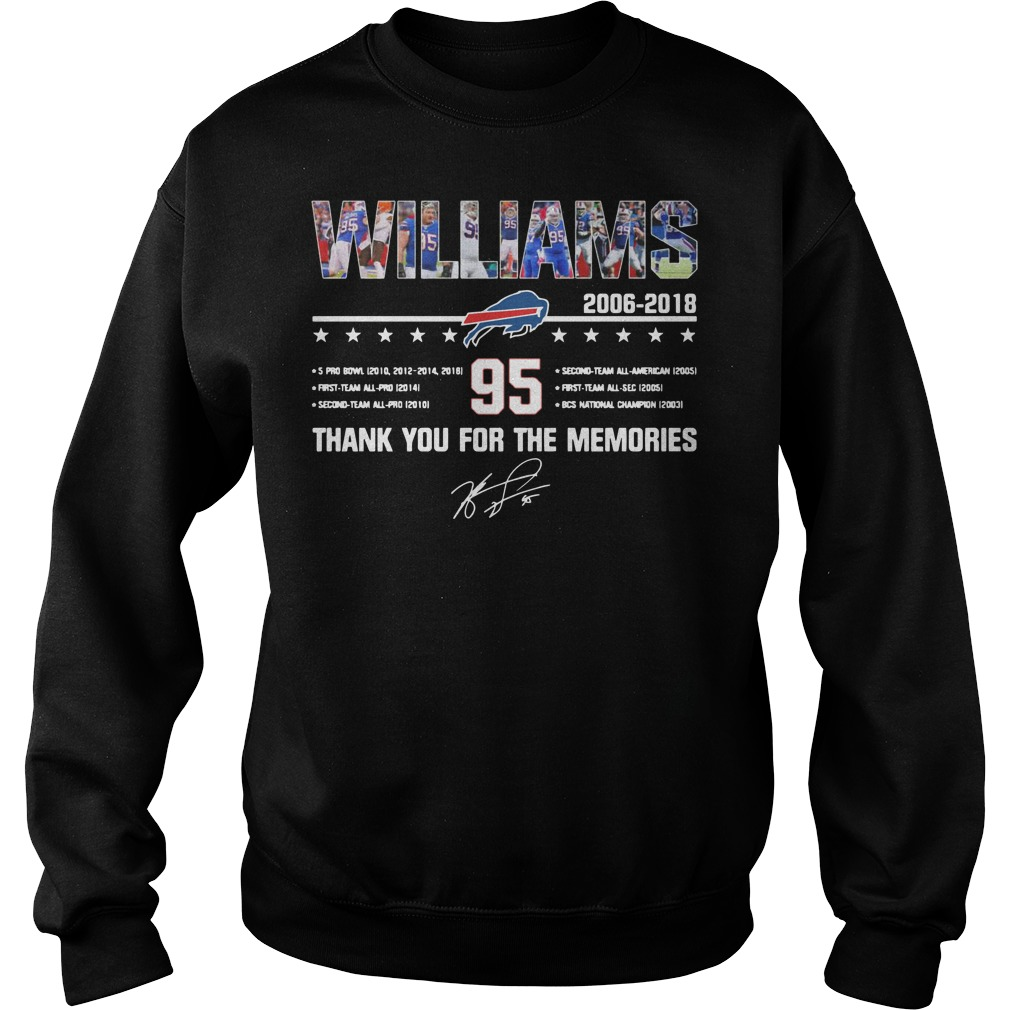 Buffalo Bills Williams 2006 2018 95 thank you for the memories Sweater
