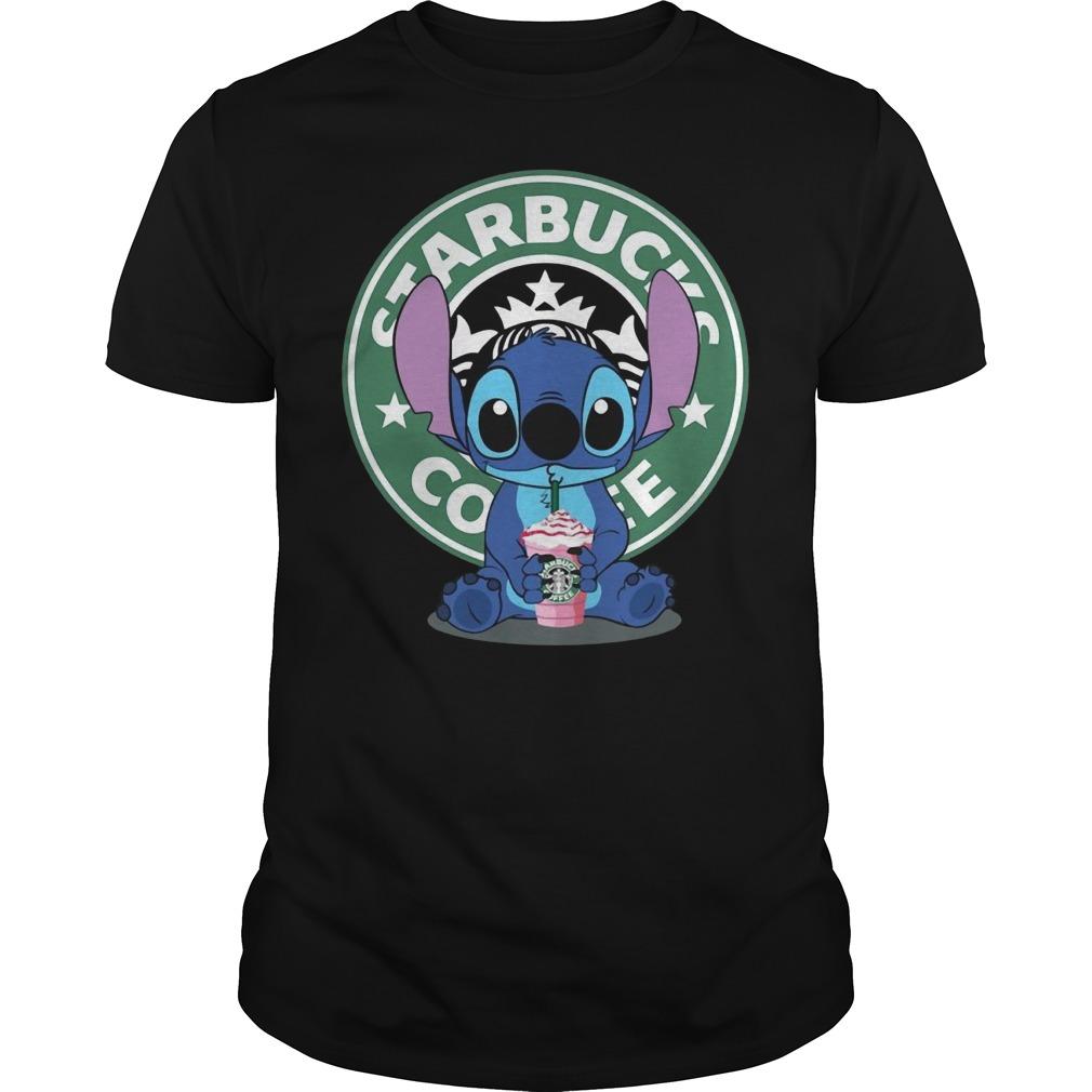 Stitch Starbucks coffee Guys t-shirt