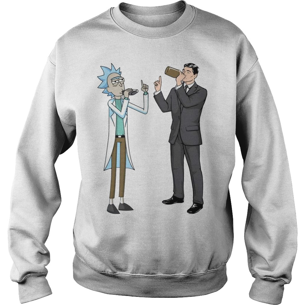 Rick and Archer Drinking Buddies Sweater