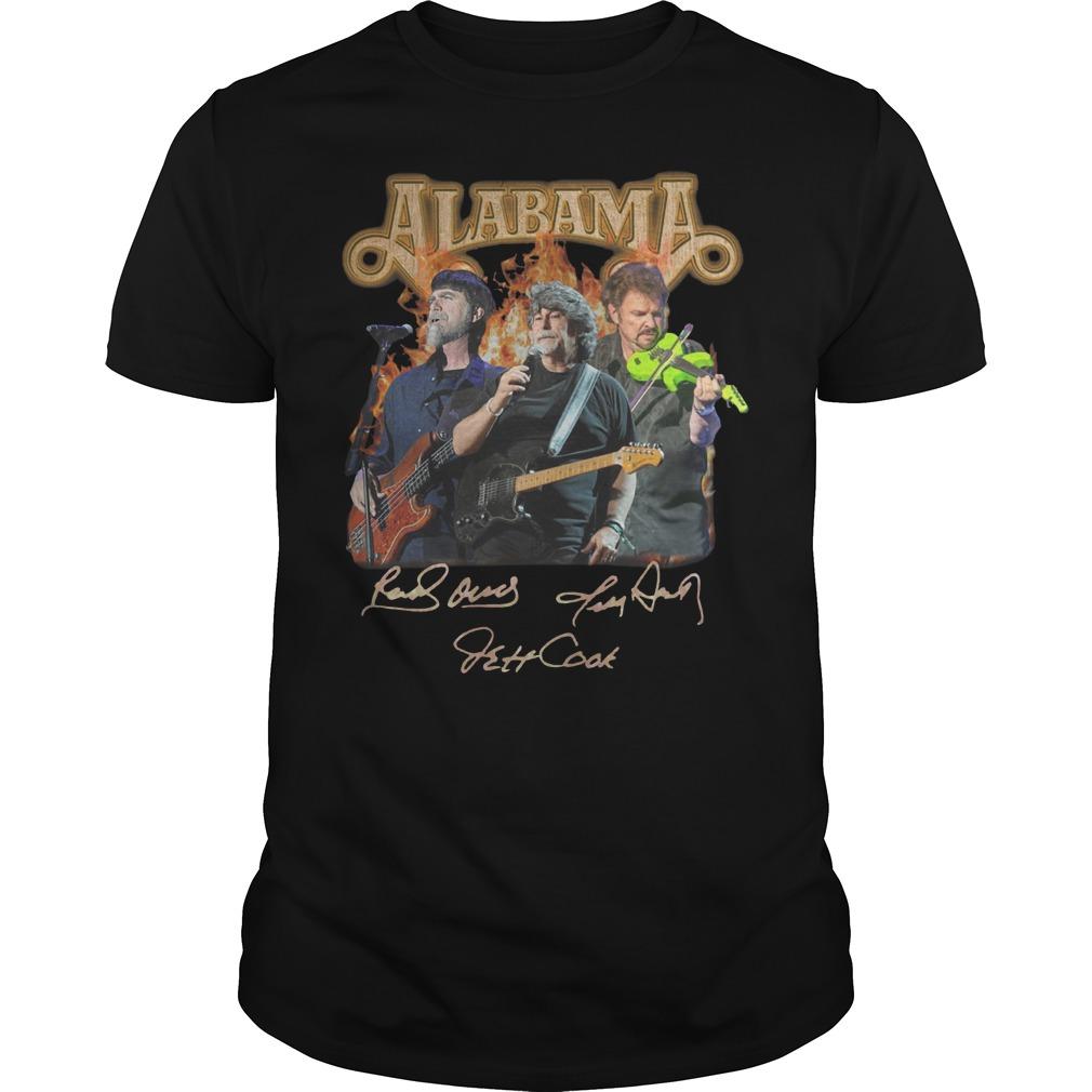 Alabama band Randy Owen Jeff Cook Teddy Gentry sign Guys t-shirt