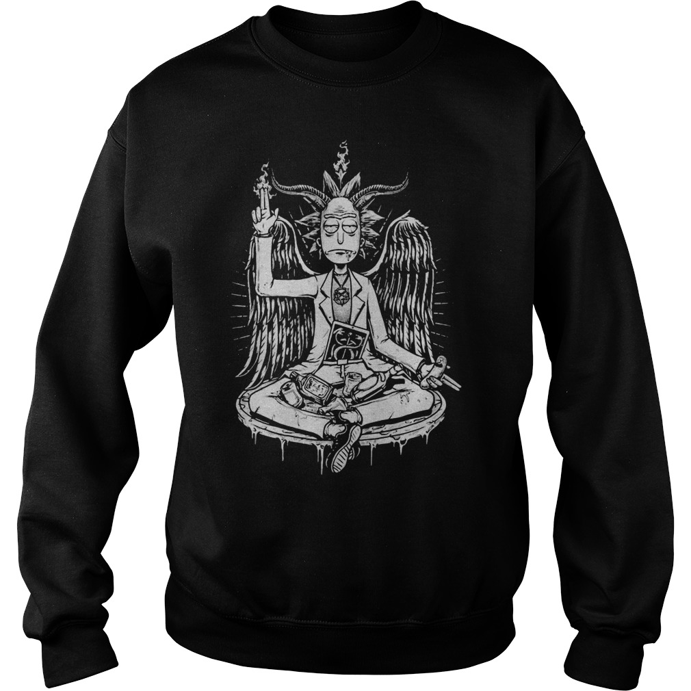 Angel Devil Baphomet Rick Sanchez Sweater