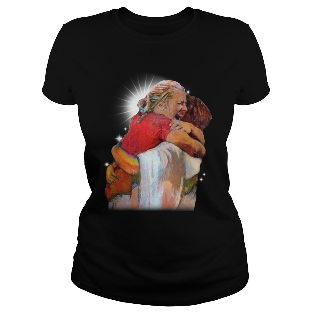 Christian First Day In Heaven Ladies t-shirt