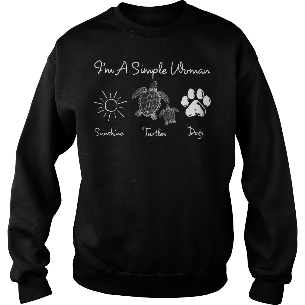 I'm a simple woman who love sunshine turtles dogs Sweater
