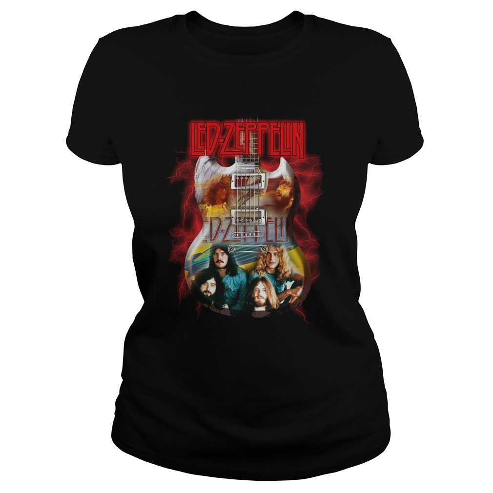 Led Zeppelin guitar Ladies t-shirt