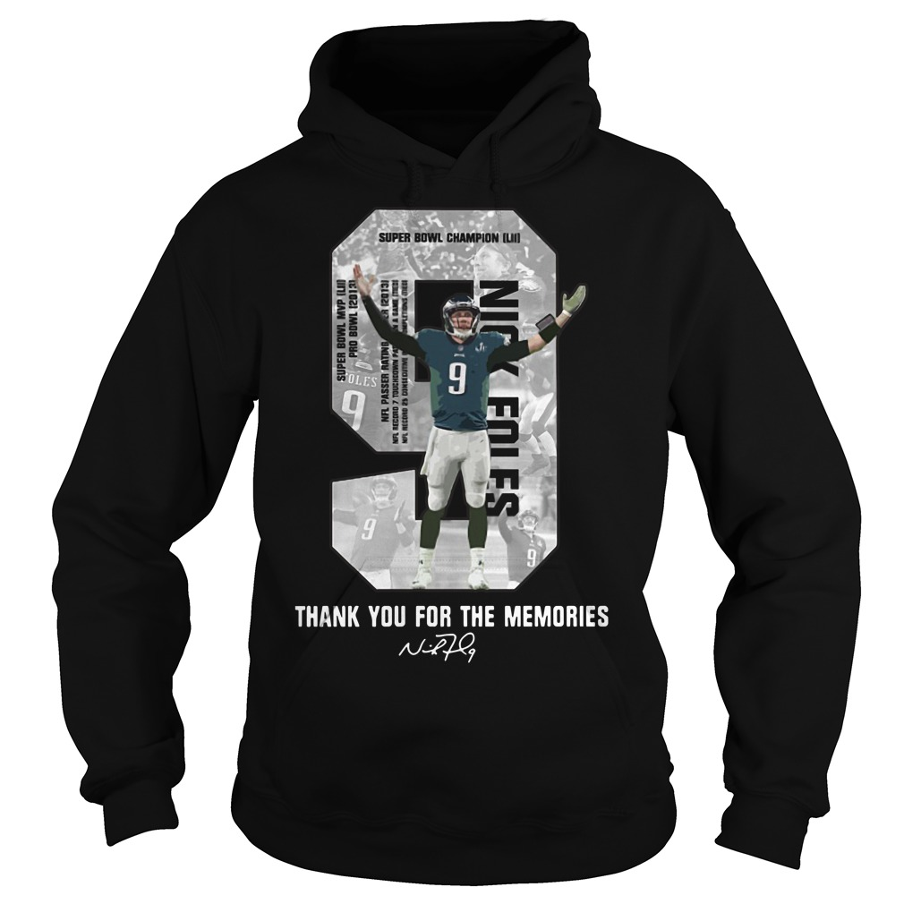 Nick Foles Eagles thank you for the memories signature Hoodie