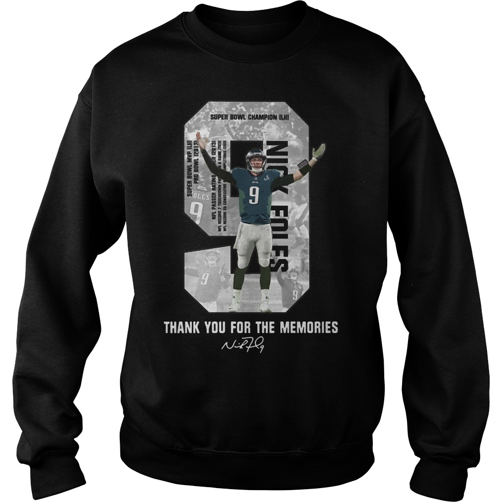 Nick Foles Eagles thank you for the memories signature Sweater